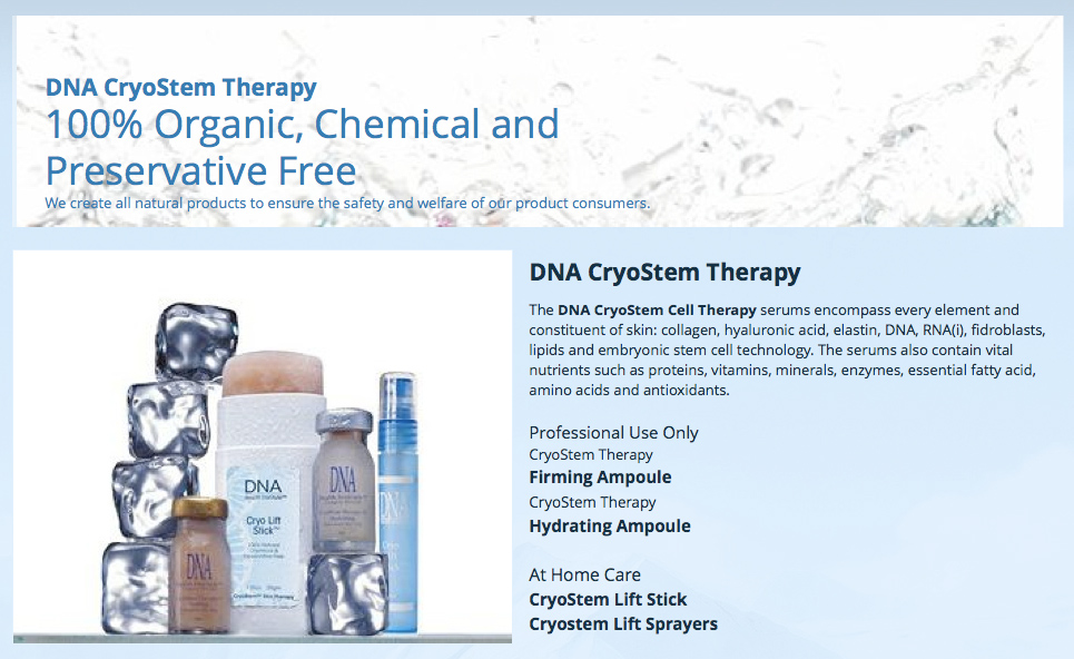 DNA CyroStem Therapy